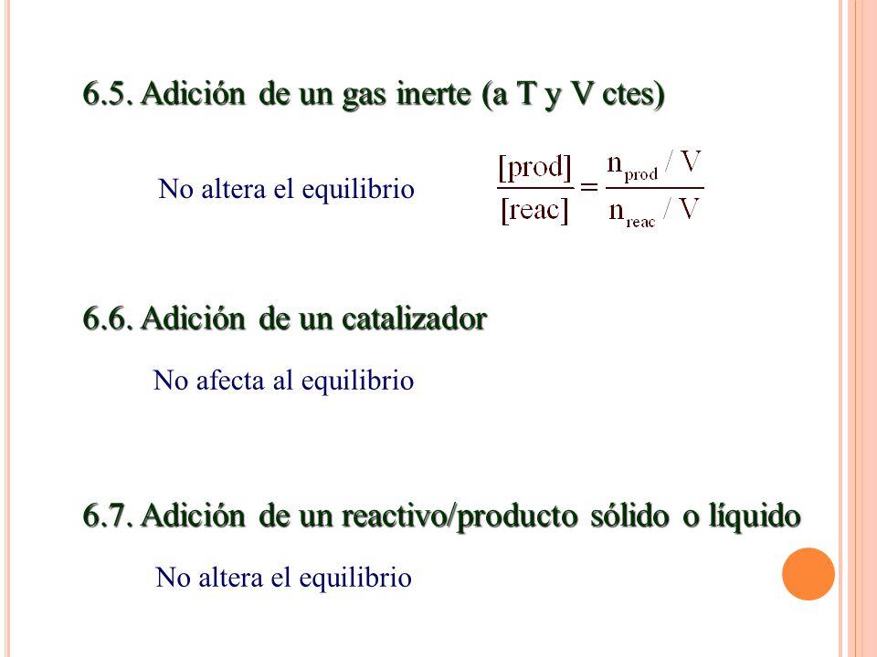 6.5. Adición de un gas inerte (a T y V ctes)