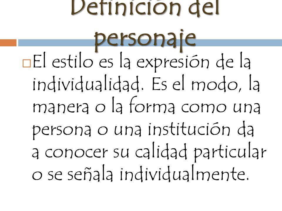 Definición del personaje