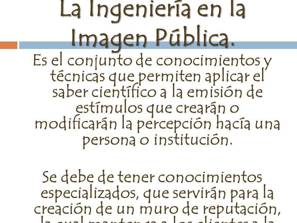 La Ingeniería en la Imagen Pública.