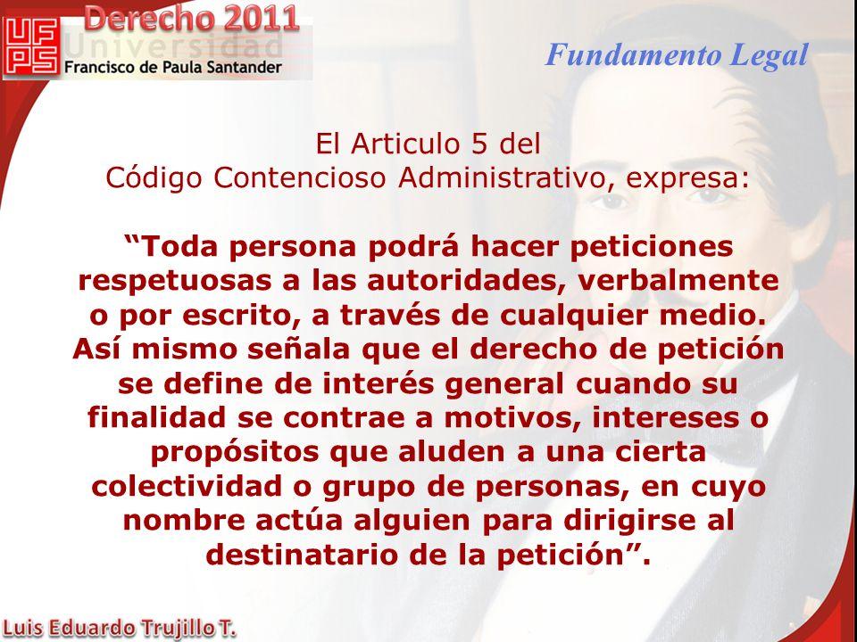Código Contencioso Administrativo, expresa: