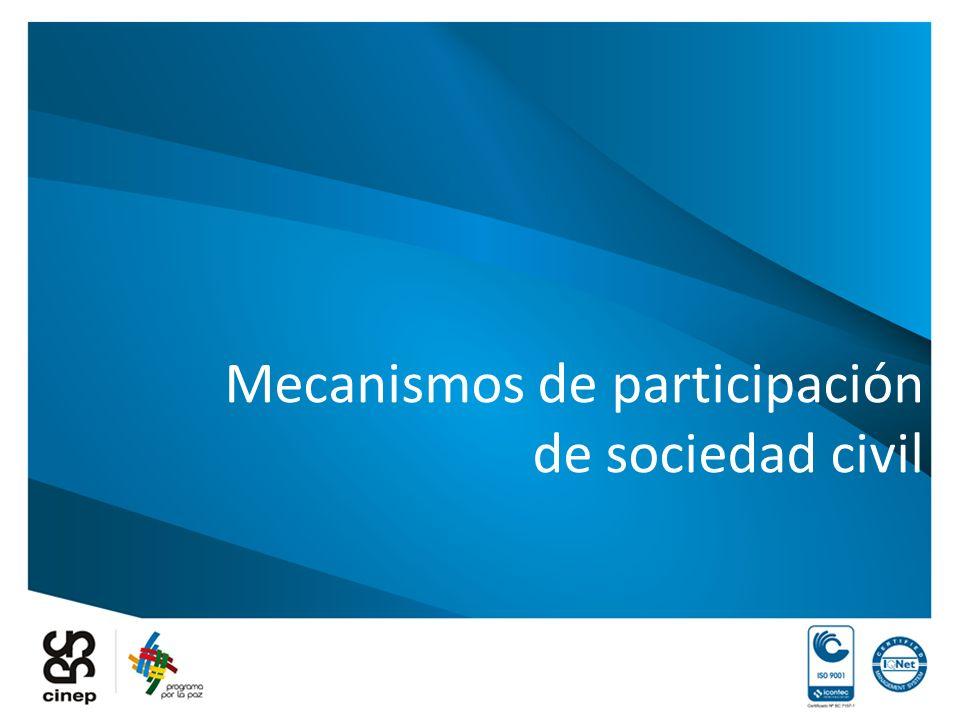 Mecanismos de participación de sociedad civil