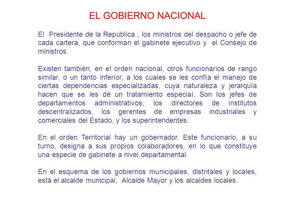EL GOBIERNO NACIONAL