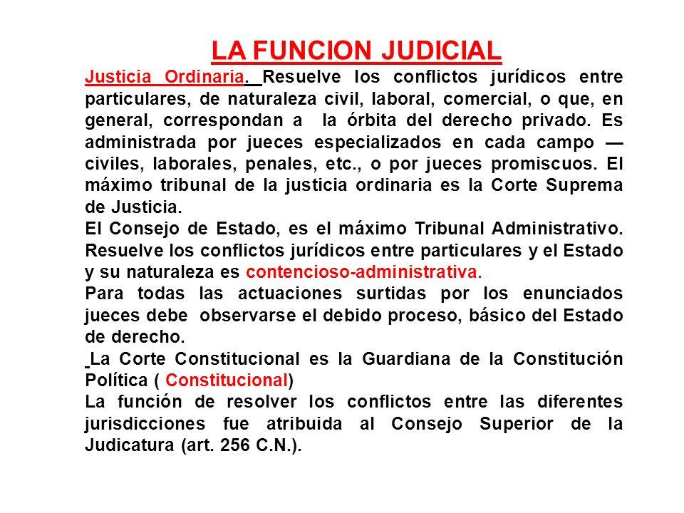 LA FUNCION JUDICIAL
