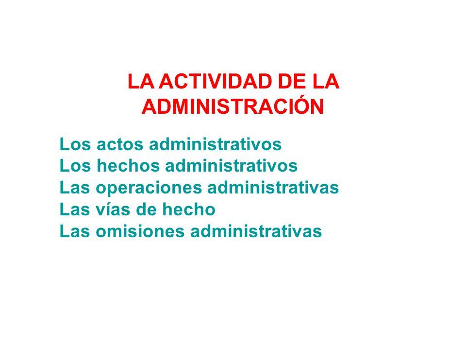 LA ACTIVIDAD DE LA ADMINISTRACIÓN