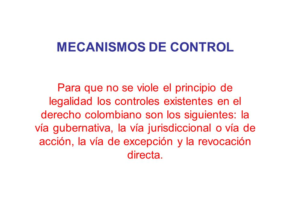 MECANISMOS DE CONTROL