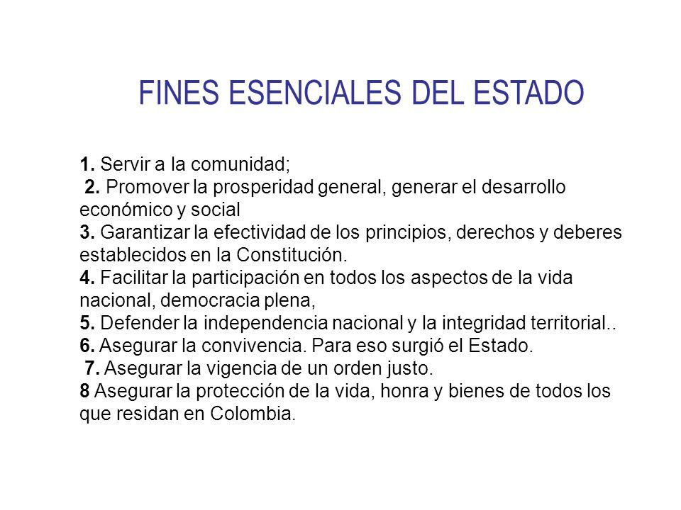 FINES ESENCIALES DEL ESTADO