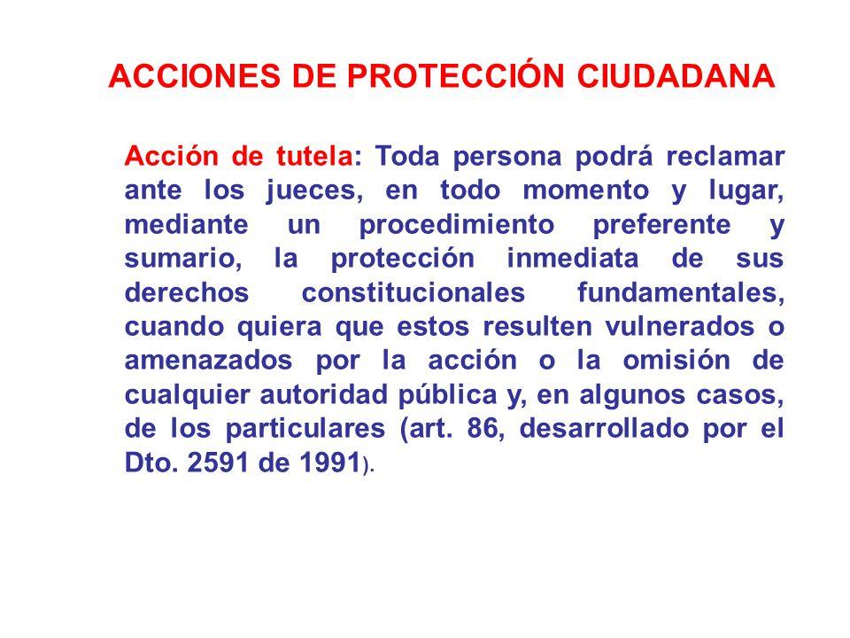 ACCIONES DE PROTECCIÓN CIUDADANA