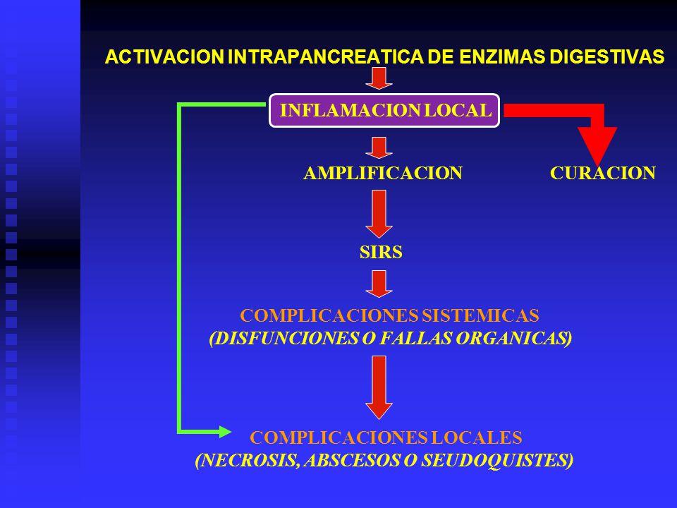 ACTIVACION INTRAPANCREATICA DE ENZIMAS DIGESTIVAS