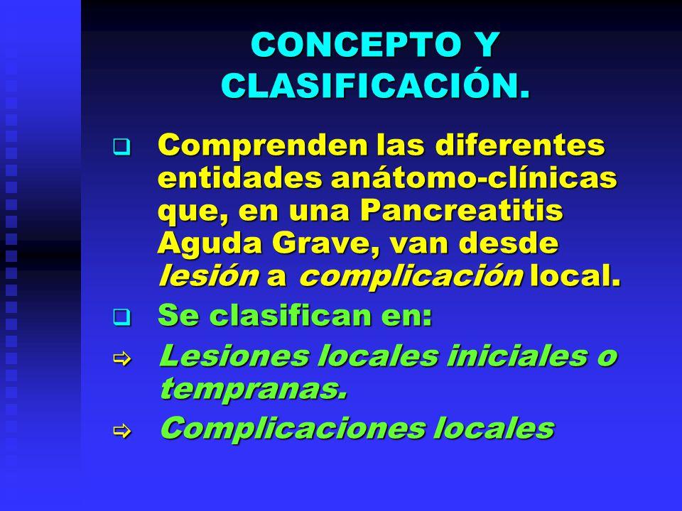 CONCEPTO Y CLASIFICACIÓN.