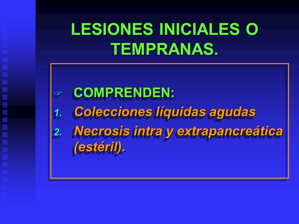 LESIONES INICIALES O TEMPRANAS.