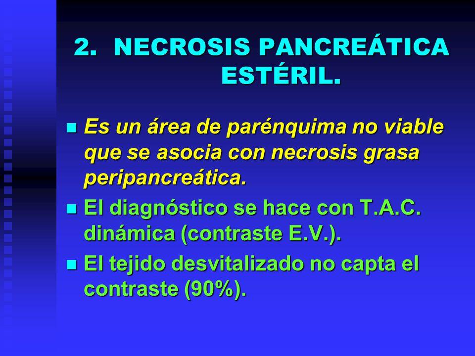NECROSIS PANCREÁTICA ESTÉRIL.