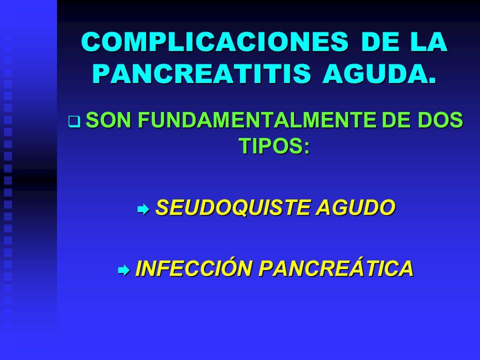 COMPLICACIONES DE LA PANCREATITIS AGUDA.