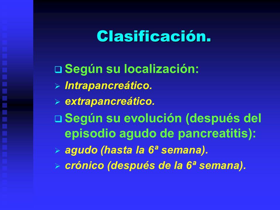 Clasificación. Según su localización: