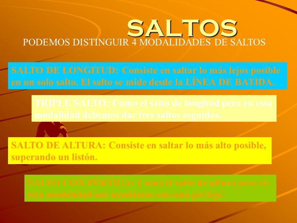 SALTOS PODEMOS DISTINGUIR 4 MODALIDADES DE SALTOS