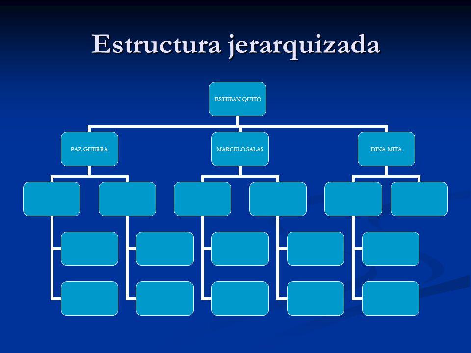Estructura jerarquizada