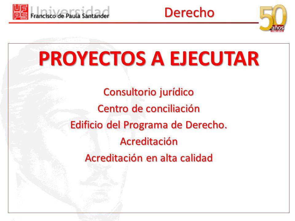 PROYECTOS A EJECUTAR Derecho Consultorio jurídico