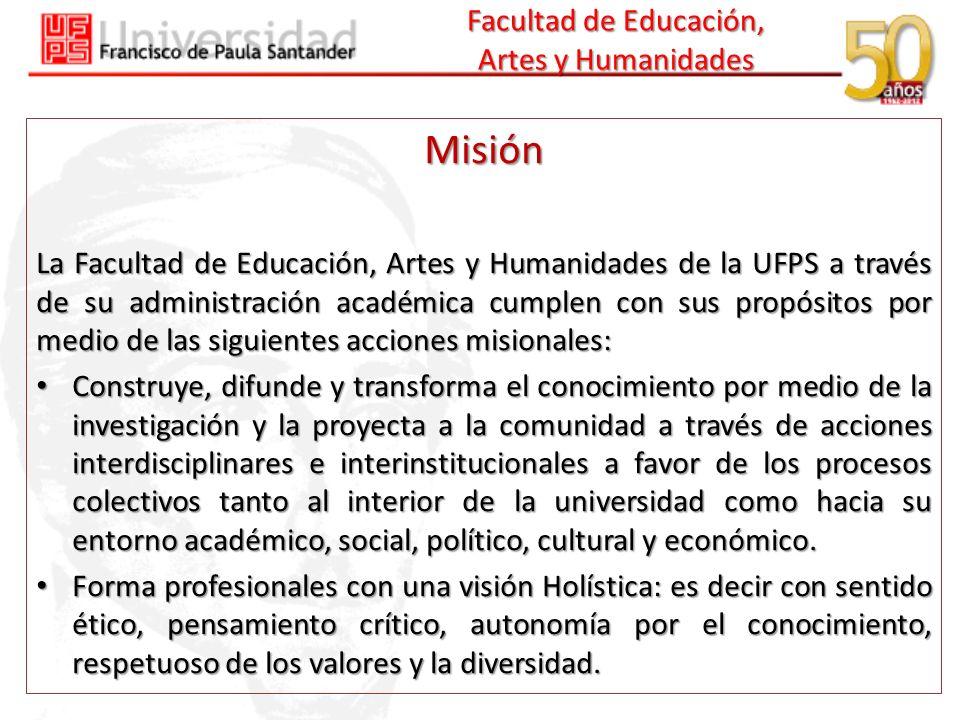Facultad de Educación, Artes y Humanidades