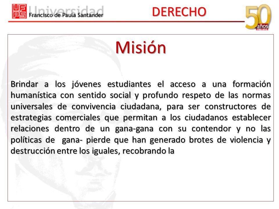DERECHO Misión.