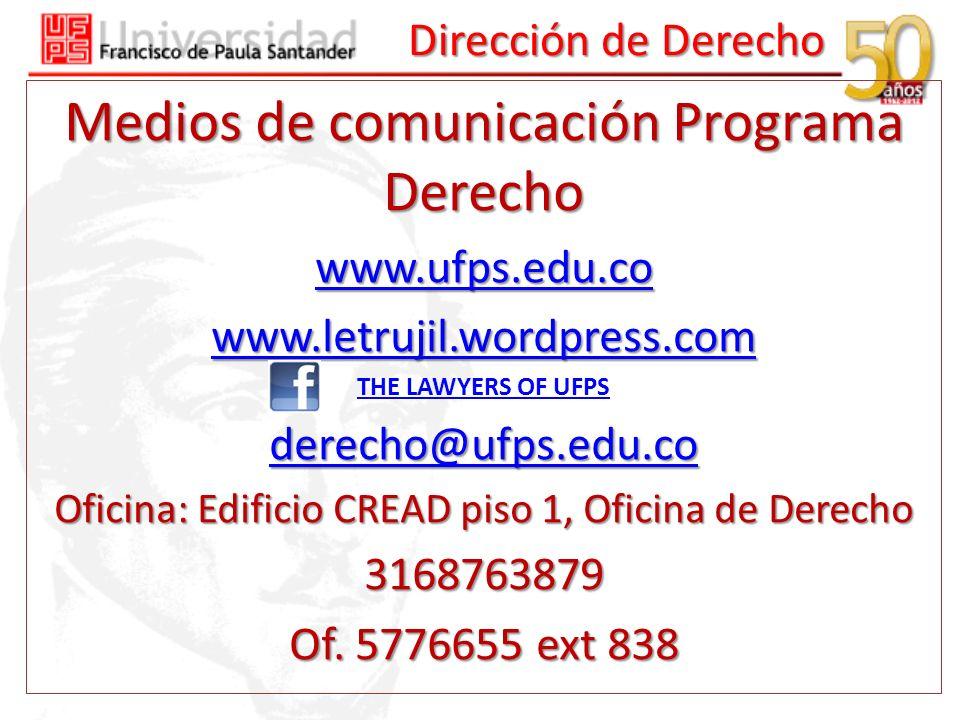 Medios de comunicación Programa Derecho