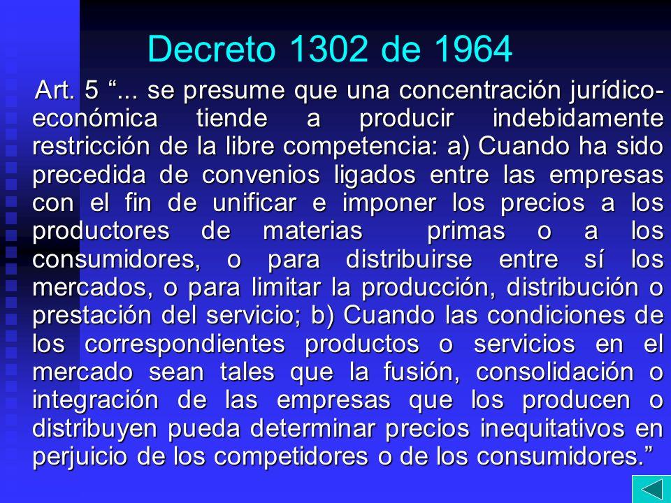 Decreto 1302 de 1964