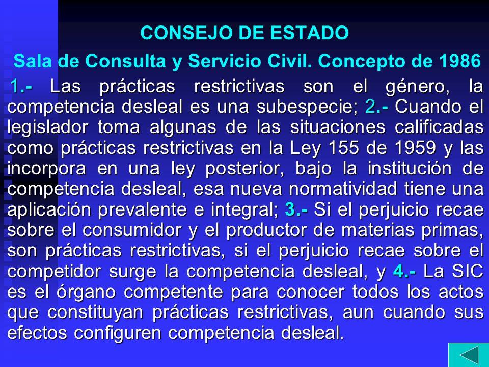 CONSEJO DE ESTADO Sala de Consulta y Servicio Civil. Concepto de 1986