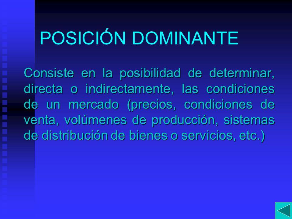 POSICIÓN DOMINANTE