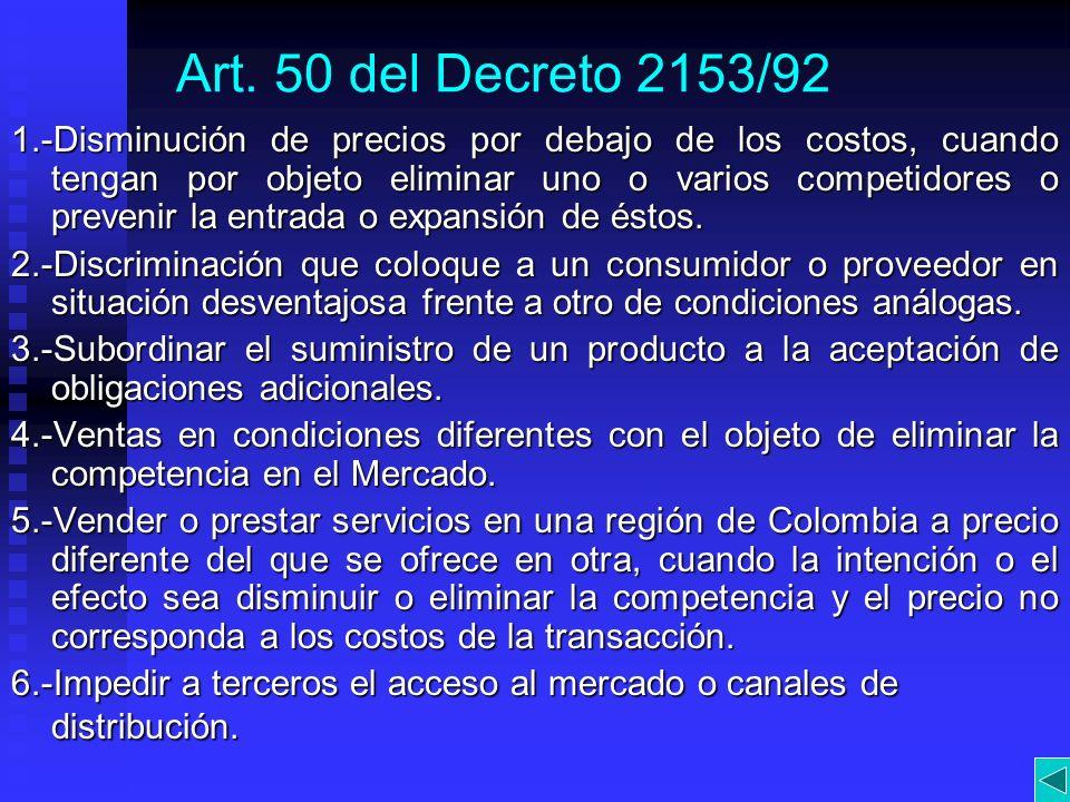 Art. 50 del Decreto 2153/92