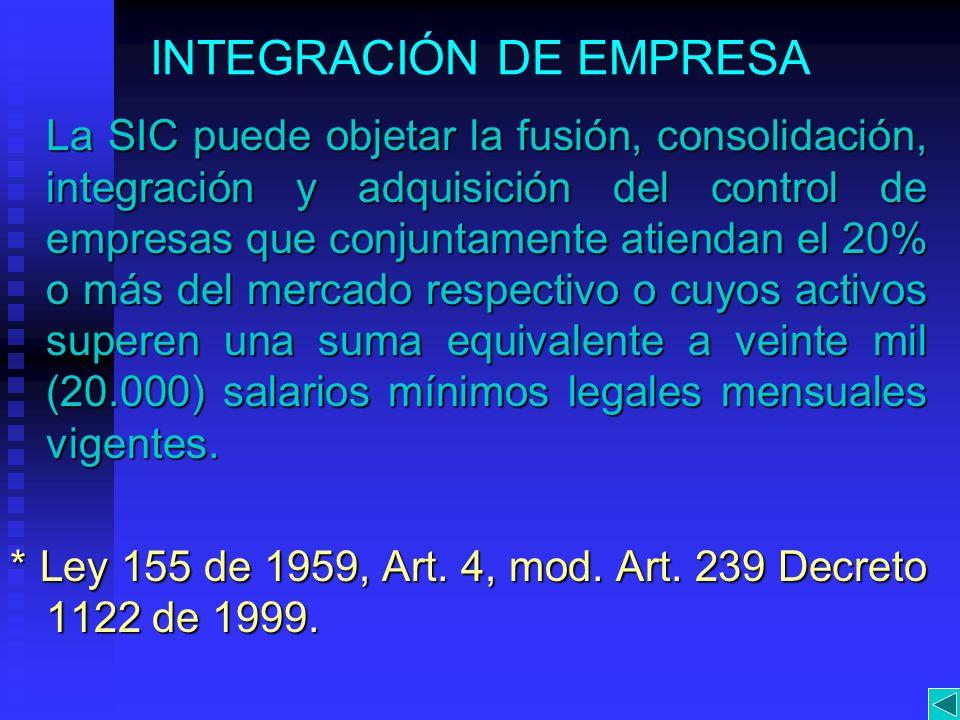 INTEGRACIÓN DE EMPRESA
