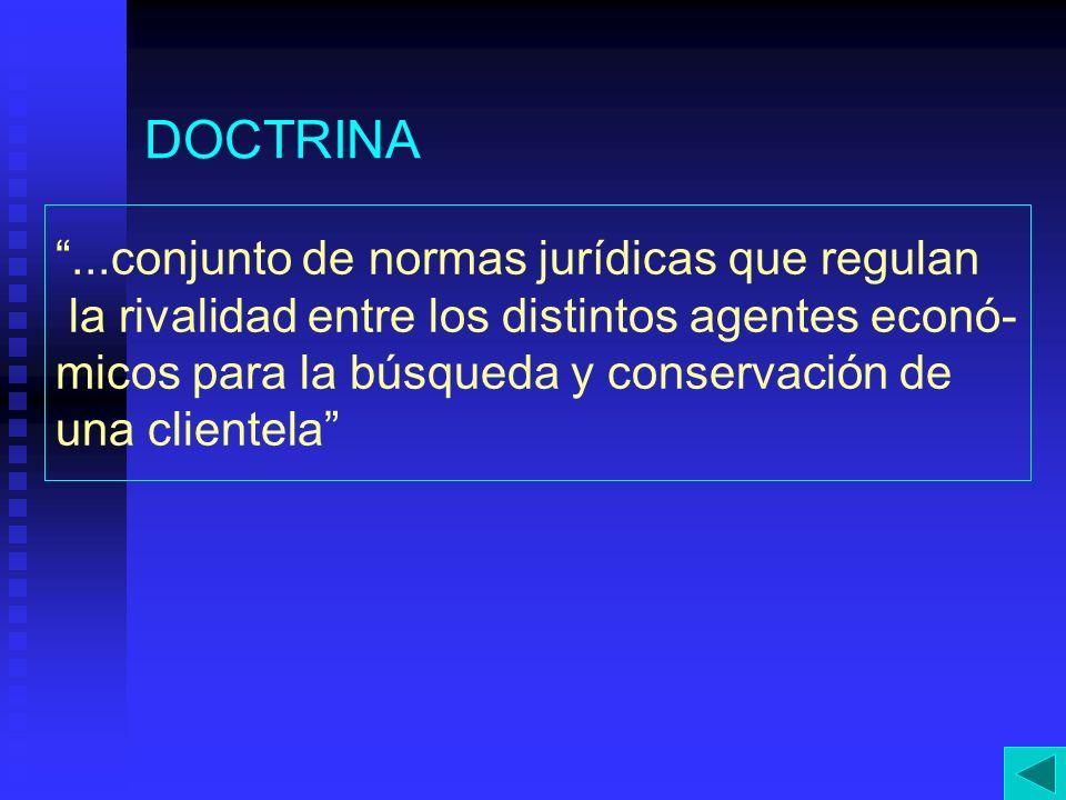 DOCTRINA ...conjunto de normas jurídicas que regulan