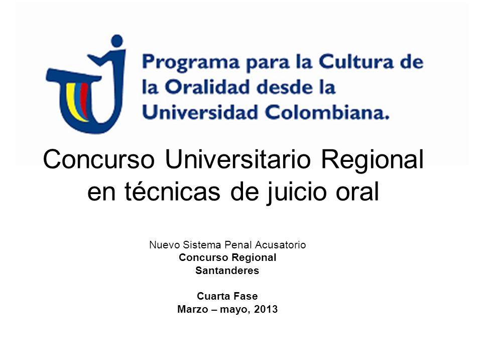 Concurso Universitario Regional en técnicas de juicio oral