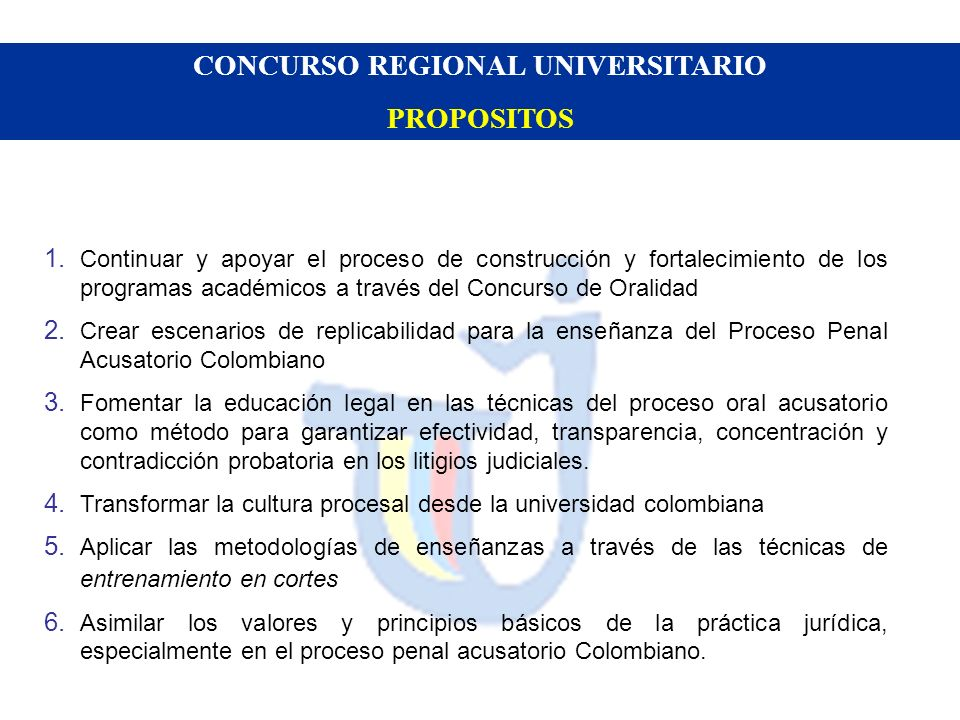 CONCURSO REGIONAL UNIVERSITARIO