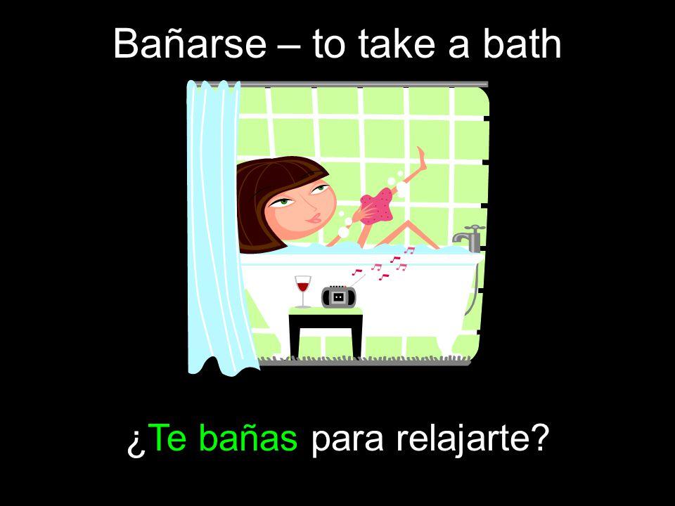 ¿Te bañas para relajarte