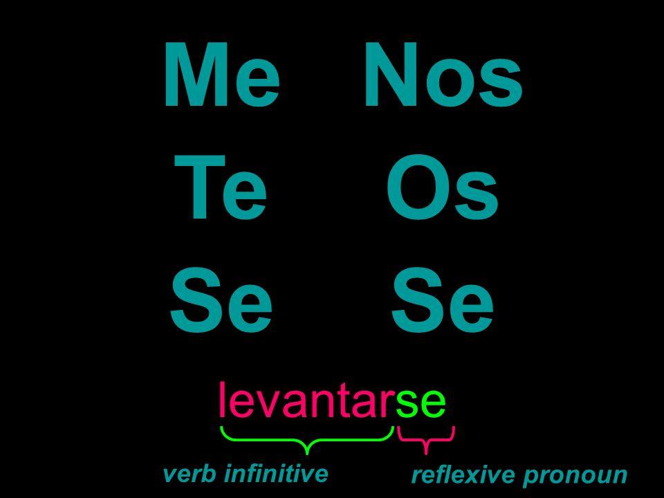 Me Nos Te Os Se levantarse verb infinitive reflexive pronoun