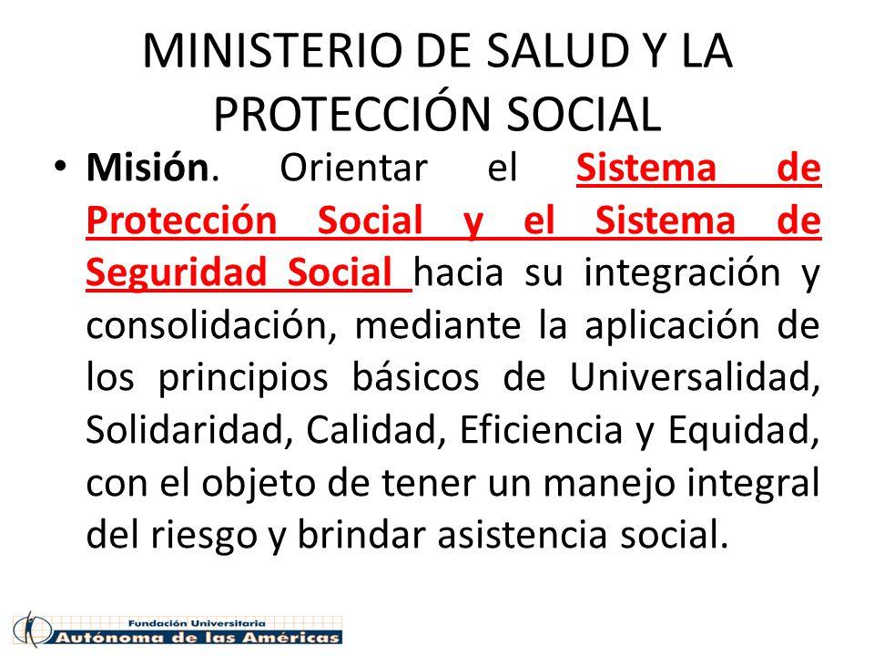 MINISTERIO DE SALUD Y LA PROTECCIÓN SOCIAL