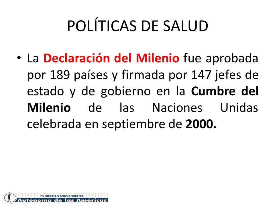 POLÍTICAS DE SALUD