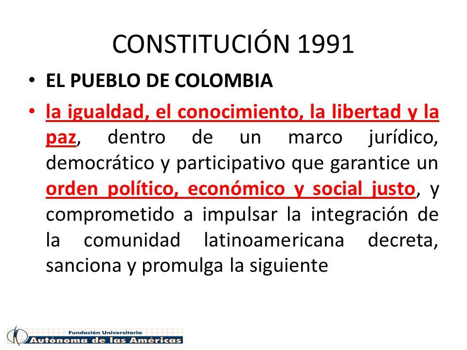 CONSTITUCIÓN 1991 EL PUEBLO DE COLOMBIA