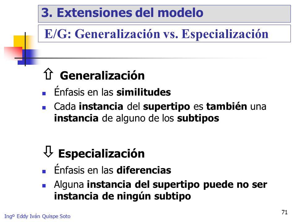  Generalización  Especialización