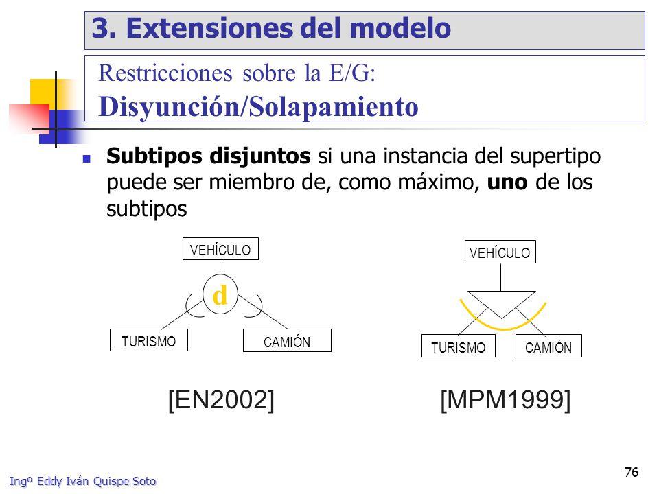 d 3. Extensiones del modelo