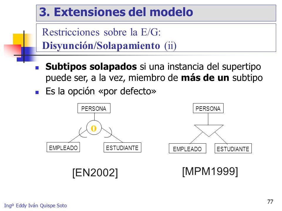 o 3. Extensiones del modelo