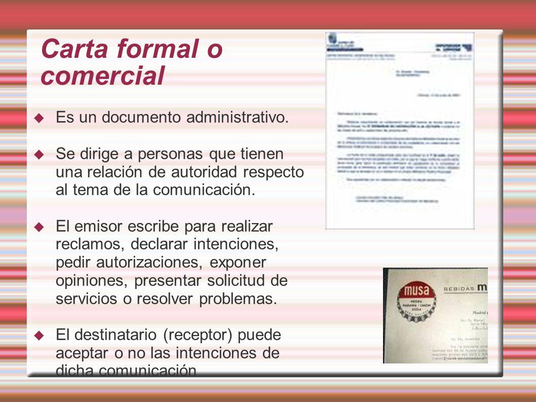 Carta formal o comercial