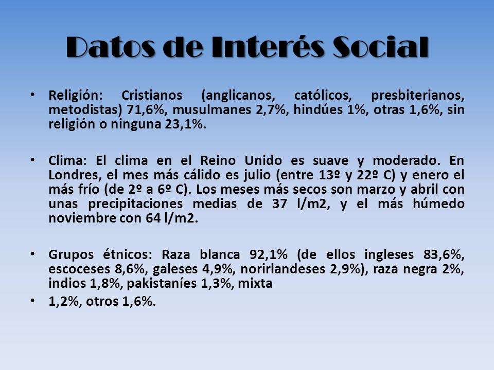 Datos de Interés Social