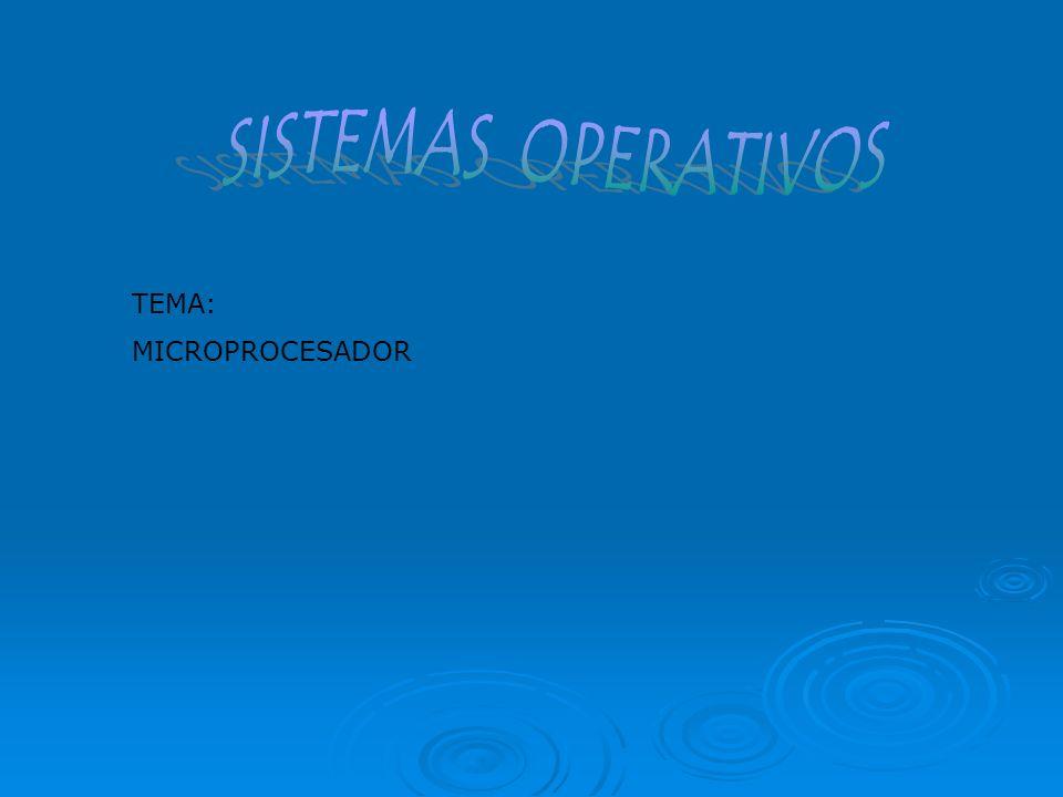 SISTEMAS OPERATIVOS TEMA: MICROPROCESADOR