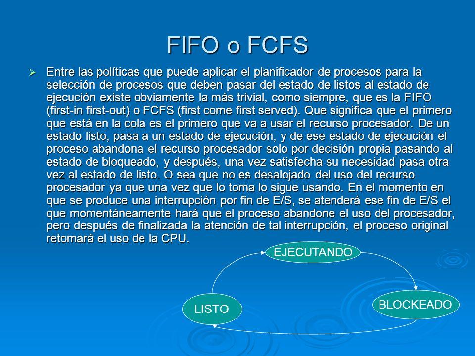 FIFO o FCFS
