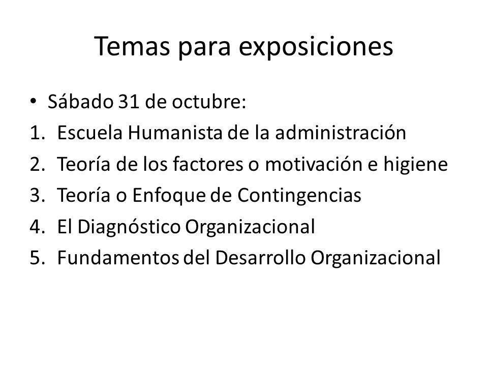 Temas para exposiciones