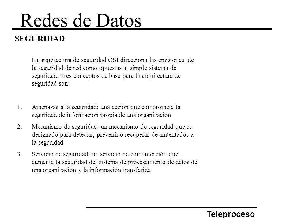 Redes de Datos SEGURIDAD Teleproceso