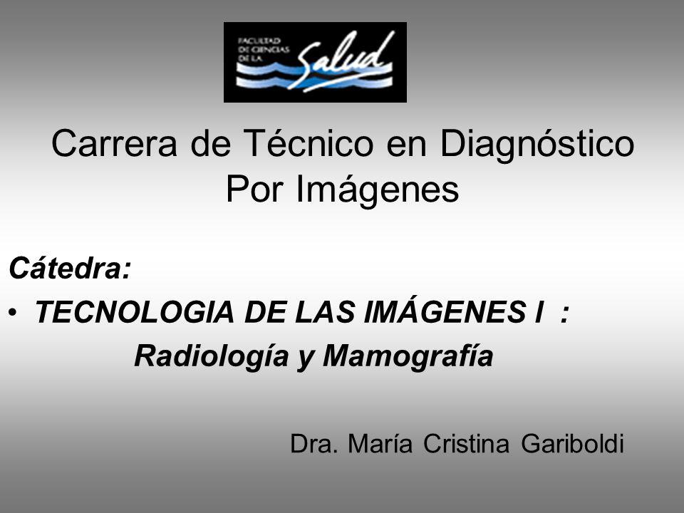 Carrera de Técnico en Diagnóstico Por Imágenes