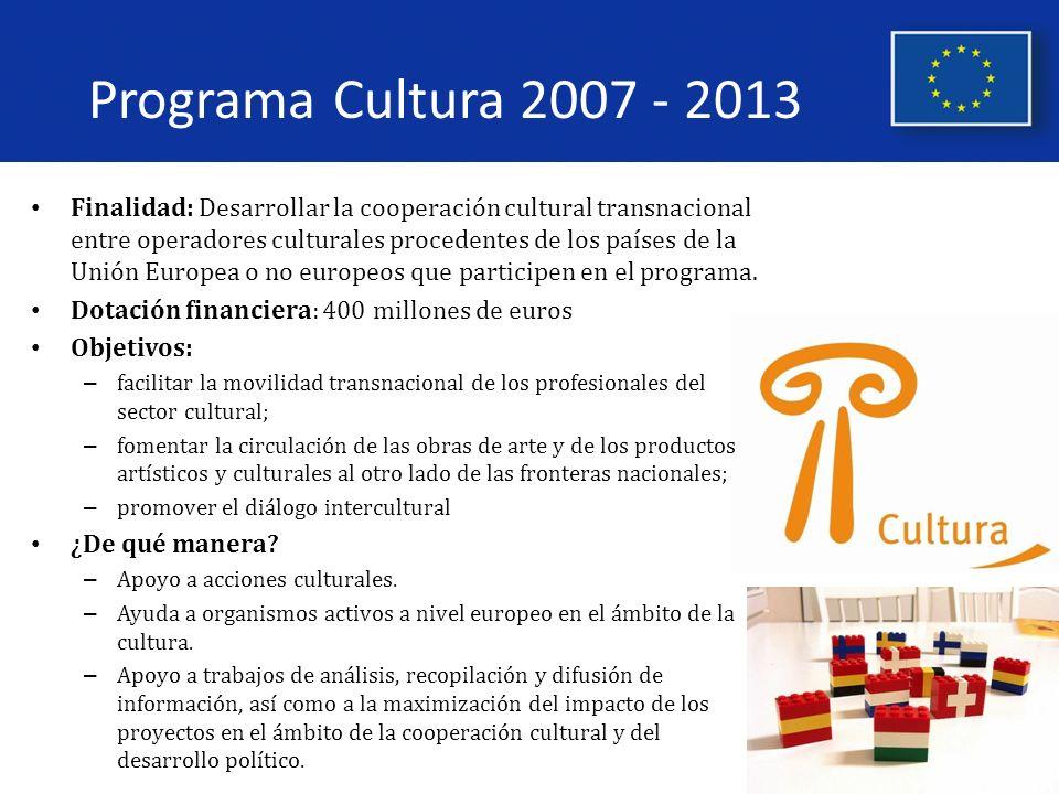 Programa Cultura 2007 - 2013