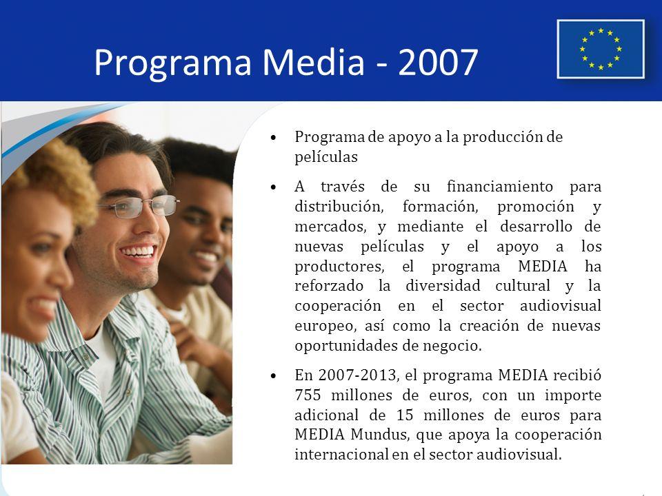 Programa Media - 2007 Programa de apoyo a la producción de películas