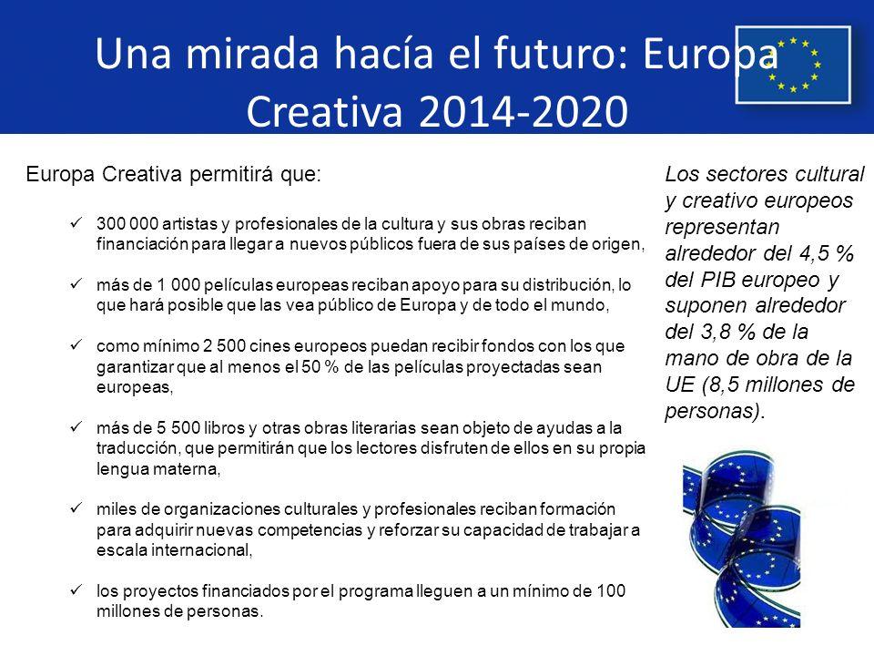 Una mirada hacía el futuro: Europa Creativa 2014-2020