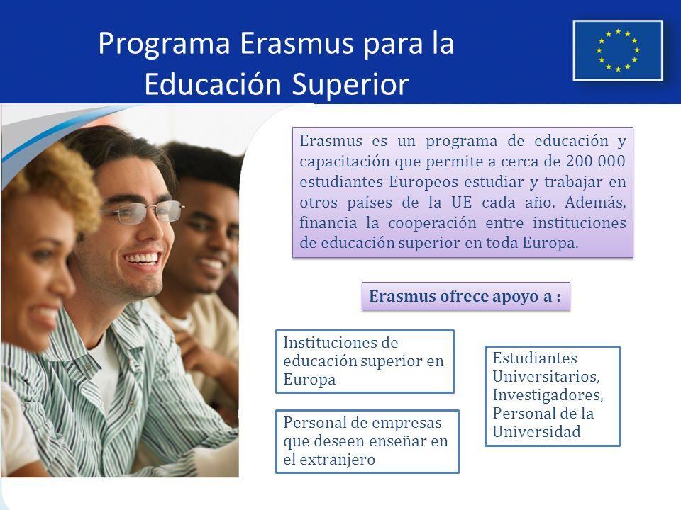 Programa Erasmus para la Educación Superior